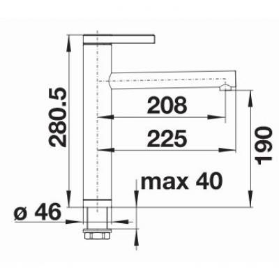 blanco linee k chenarmatur 517595 edelstahl seidenglanz. Black Bedroom Furniture Sets. Home Design Ideas