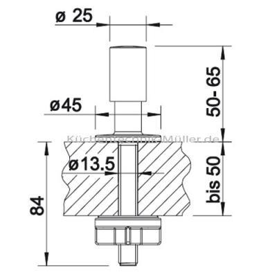 blanco zugknopf rund 222118 edelstahl seidenmatt online shop sp len zubeh r. Black Bedroom Furniture Sets. Home Design Ideas