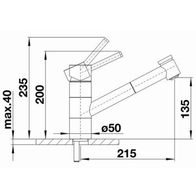 blanco tivo s k chenarmatur 518424 chrom niederdruck online shop armaturen chrom mit brause. Black Bedroom Furniture Sets. Home Design Ideas