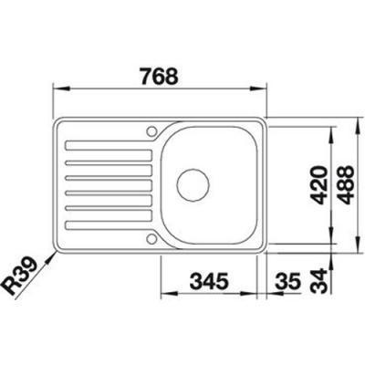 blanco lantos 45 s if compact edelstahl 519059 online shop sp len edelstahl 45. Black Bedroom Furniture Sets. Home Design Ideas