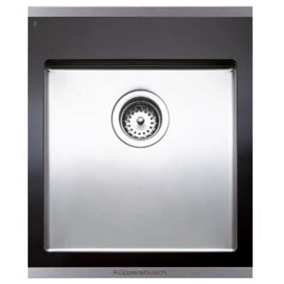 KÜPPERSBUSCH EAGK 4500.1 ED Einbau-Abtropfbecken Abtropffläche Edelstahl Glaskeramik schwarz 45cm Profession+