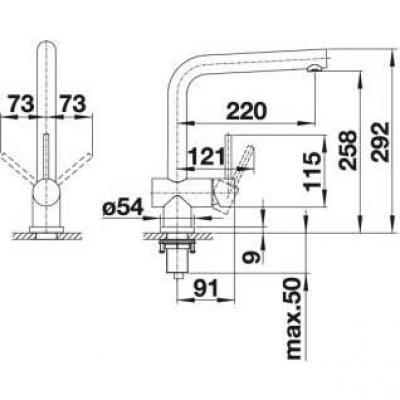 Blanco Lomis Küchenarmatur 518718 Edelstahl Gebürstet Hochdruck