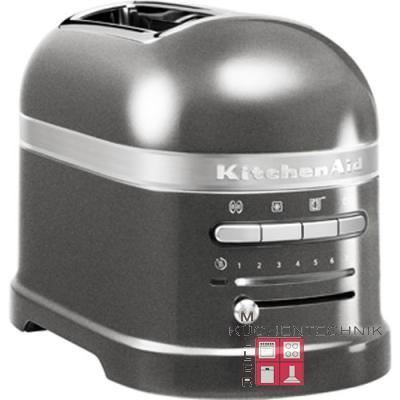 kitchenaid artisan 2 scheiben toaster medaillon silber. Black Bedroom Furniture Sets. Home Design Ideas