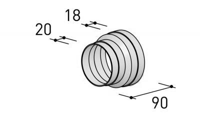 BERBEL Reduzierstück R 125 mm auf R 100 mm
