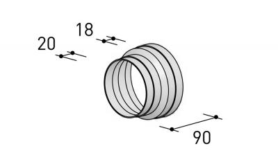 BERBEL Reduzierstück R 150 mm auf R 125 mm