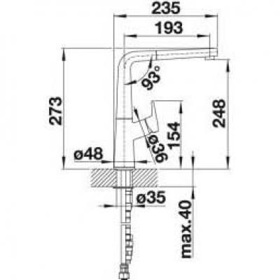 blanco avona s k chenarmatur chrom 521277 hochdruck online shop armaturen chrom mit brause. Black Bedroom Furniture Sets. Home Design Ideas