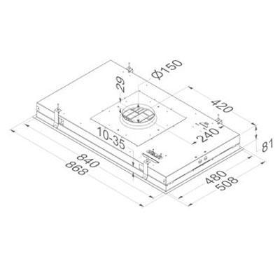 novy dunstabzugshaube pureline 6839 deckenhaube lack wei ohne beleuchtung externer motor 90 cm. Black Bedroom Furniture Sets. Home Design Ideas