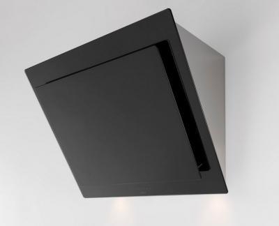 Novy vision kopffrei wandhaube glas schwarz edelstahl