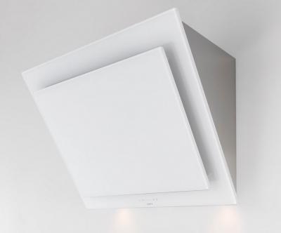 Novy vision kopffrei wandhaube glas weiß edelstahl interner