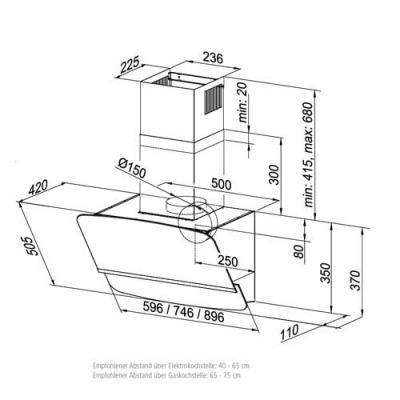 Dunstabzugshaube Kopffrei 60 Cm Weiß 2021