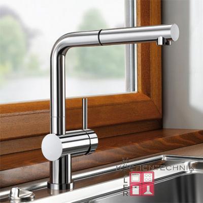 blanco linus s f edelstahl finish 514024 hochdruck online shop armaturen vorfenster einbau. Black Bedroom Furniture Sets. Home Design Ideas