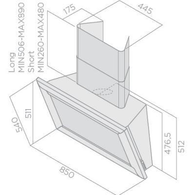 elica amelie wandhaube kopffrei 85 cm wei es holz prf0098371 eek a online shop dunstabzug a. Black Bedroom Furniture Sets. Home Design Ideas