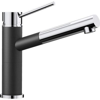 Küchenarmaturen mit schlauchbrause  BLANCO ALTA-S Compact Küchenarmatur SILGRANIT®-Look Chrom Hochdruck ...